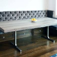 gray dining table with bench dining and kitchen tables farmhouse industrial modern