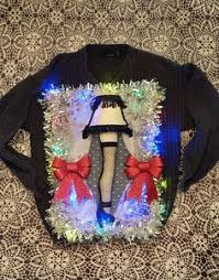 a christmas story leg l ugly christmas sweater black dress with a leg lamp from a