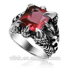 gem rings images Men 39 s stainless steel vintage dragon claw gem ring buy dragon jpg