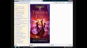 download ebook the throne of fire by rick riordan july 11 2011