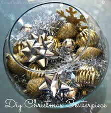Cheap Gold Centerpieces by Diy Silver U0026 Gold Christmas Fish Bowl Centerpiece On A Budget