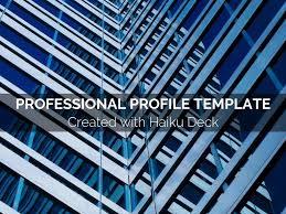 Proffesional Profile Professional Profile Template By Reusable Template