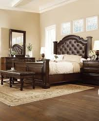 Leather Tufted Poster Bed Denver Bedroom Furniture Colorado - Bedroom furniture denver