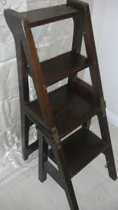 Library Step Stool Chair Combo Handmade Oak Neo Gothic Style Arts U0026 Crafts Combination Library