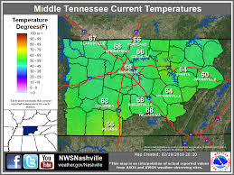 Middle Tn Map Middle Tennessee Weather Observations