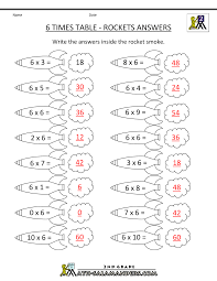 6 times table