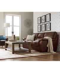 Contemporary Living Room Chairs Macy S Tuscan Living Room Furniture Collection Ricardo Leather