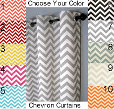 chevron curtains free shipping two curtain panels any