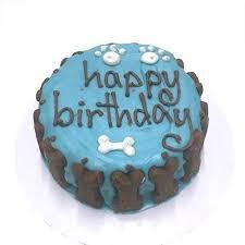 dog birthday cake solid blue standard dog cake at dogtuff