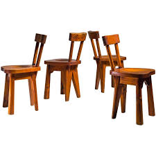 Pine Dining Chair Renee Faublee Set Of Four Pine Campagne Style Dining Chairs