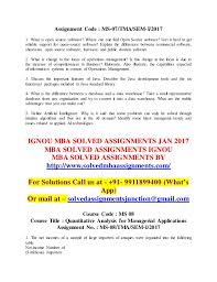 What Is Open Table Ignou Mba Solved Assignments 2017