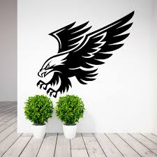 compare prices on wallpaper stencils online shopping buy low american eagle bird of prey wall art sticker decal stencil animal mural bedroom wall decals home