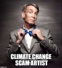 Scam Meme - climate change scam artist