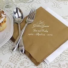 printed wedding napkins custom printed 50th wedding anniversary luncheon napkins