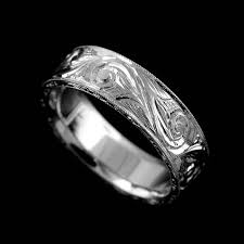white gold vintage wedding bands white gold vintage engraved s wedding ring 6mm orospot