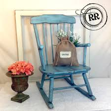 Childrens Rocking Chair Plans Adorable Vintage Child U0027s Rocking Chair Painted With Homemade