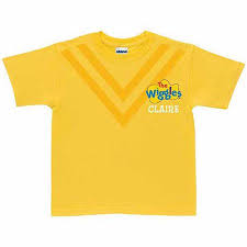 personalized the wiggles toddler t shirt yellow walmart