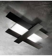 plafoniera a soffitto plafoniera ge doha 40w led alluminio nero lada soffitto moderna