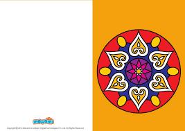 rangoli designs diwali greeting card for mocomi