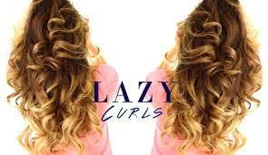 updos for curly hair i can do myself 5 minute lazy curls easy waves hairstyles youtube