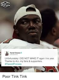 Terrell Owens Meme - terrell owens isntin the hallof ll fame fame because thme hall