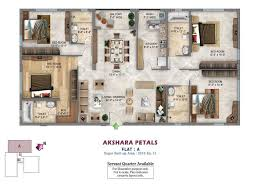 3 bhk 2142 sq ft apartment for sale in akshara petals at rs