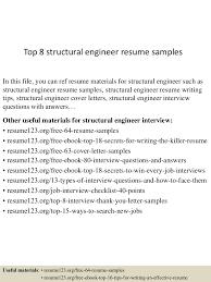 Site Civil Engineer Resume Top8structuralengineerresumesamples 150426205846 Conversion Gate02 Thumbnail 4 Jpg Cb U003d1430099978