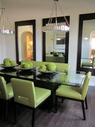 dining room decorating small dining room decorating with three pieces mirrors small