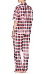 the sleep shirt plaid cotton flannel pajama top barneys new york