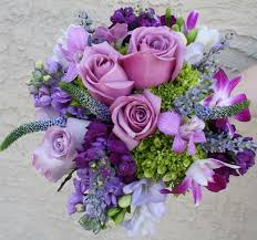 purple bouquets 2012 sping summer wedding color combinations summer wedding