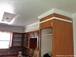Decorative Molding For Cabinet Doors Kitchen Remodeling Crown Molding On Kitchen Cabinets Before And