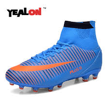 buy boots football yealon high ankle football boots fg soccer shoes superfly
