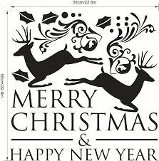 merry christmas happy new year wall stickers decals home decor art merry christmas happy new year wall stickers decals home decor art vinyl mural