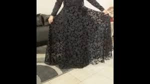 how to cutting long party umbrella dress or umbrella abaya
