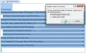 cara membuat garis pada daftar isi makalah cara cepat membuat daftar isi otomatis di word video tutorial89