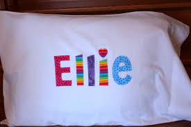 Personalized Girls Bedding by U0027s Personalized Pillow Case Custom Name Applique