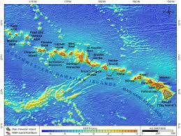 map of hawaii island hawaiian islands pacific islands benthic habitat mapping center