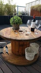 Cable Reel Table by 3 Ft Cable Reel Table 100 00 Via Etsy Front Porch Triangular