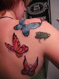 butterfly picture design tattoos on the buttocks design idea