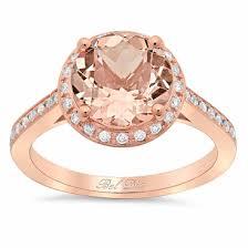circle engagement ring with halo morganite engagement ring with halo