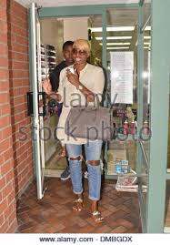 nene leakes leaves a nail salon in beverly hills los angeles stock
