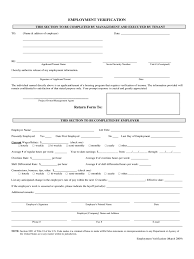 Resume Sample In Canada by Employment Verification Form 4 Free Templates In Pdf Word