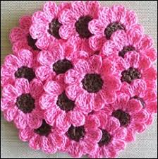 Crocheted Flowers - free patterns diagrams all kind of crochet flowers crocheted