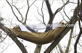 high end wilderness survival parachute cloth mosquito net hammock