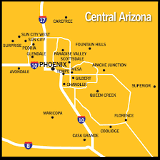 Gilbert Arizona Map by Index
