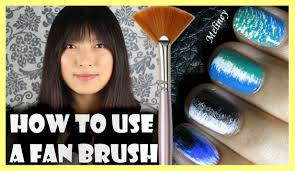 how to use a fan brush to create nail art designs meliney