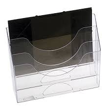 Eldon Desk Accessories by Eldon 3 Tier Letter Organiser Clear Officeworks