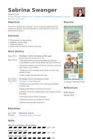 communications manager resume samples visualcv resume samples