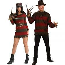 dapper halloween costumes scary couple costumes krueger sweater and ms krueger