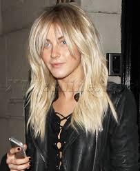 julianne hough shattered hair fringe bangs choppy layer tousled hair skin nails beauty